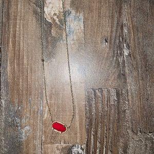 Red Elisa Kendra Scott Necklace